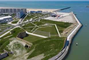 Phase 2 du chantier de requalification du front de mer de Calais.